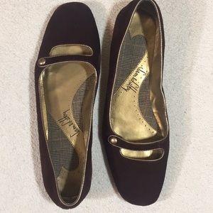 Sam & Libby Suede SLPAMALA Brown Flats Size 8.5M